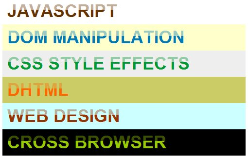 dynamic text gloss effect