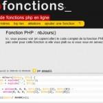 phpFontions, bibliothèque de fonctions php en ligne