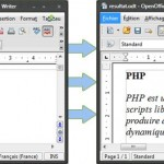 Odt PHP 1.0,  API PHP pour OpenOffice