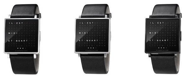 qlocktwo montre et horloge typographique. Black Bedroom Furniture Sets. Home Design Ideas